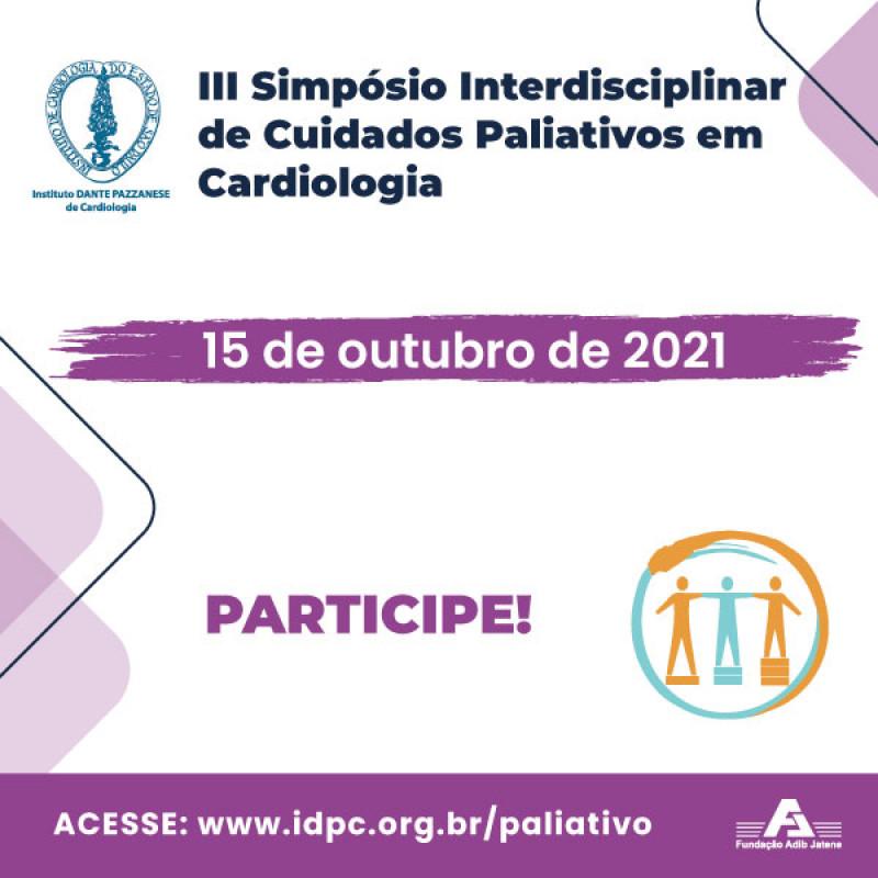 III Simpósio Interdisciplinar de Cuidados Paliativos em Cardiologia